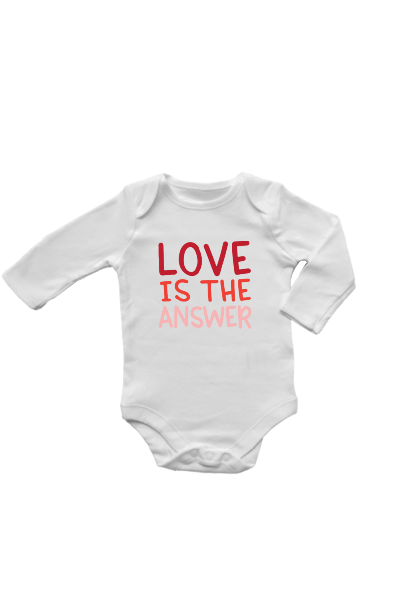 Love is the Answer | Organic Cotton Bodysuit