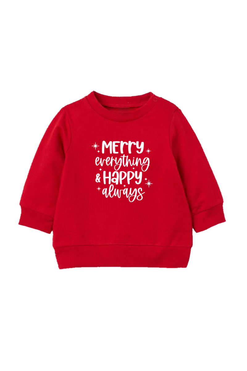 """Merry Everything"" Organic Cotton Pullover"