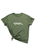 Olive Bamboo/Organic Cotton Tee (Seasonal) - Personalized