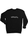 "Black sweatshirt with ""nonna"" written on it."