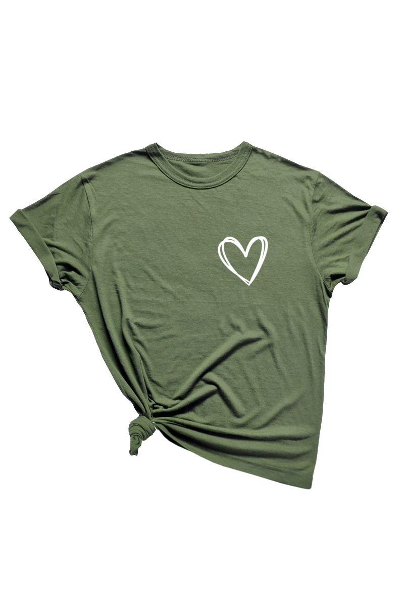 Olive Bamboo/Organic Cotton Tee (Multiple Design Choices)