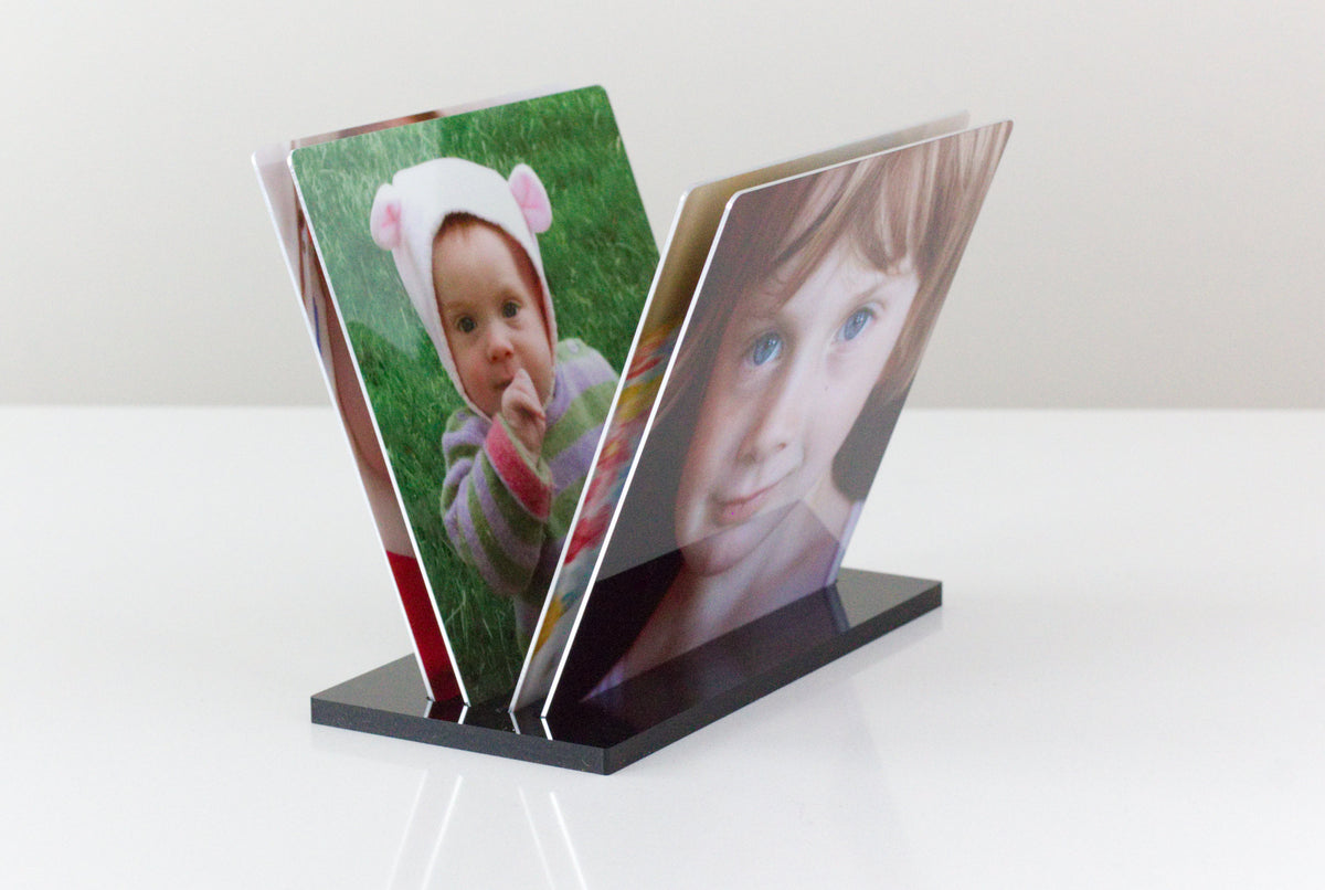 Four Collagewall Metal 5x5s in the 4-slot tray
