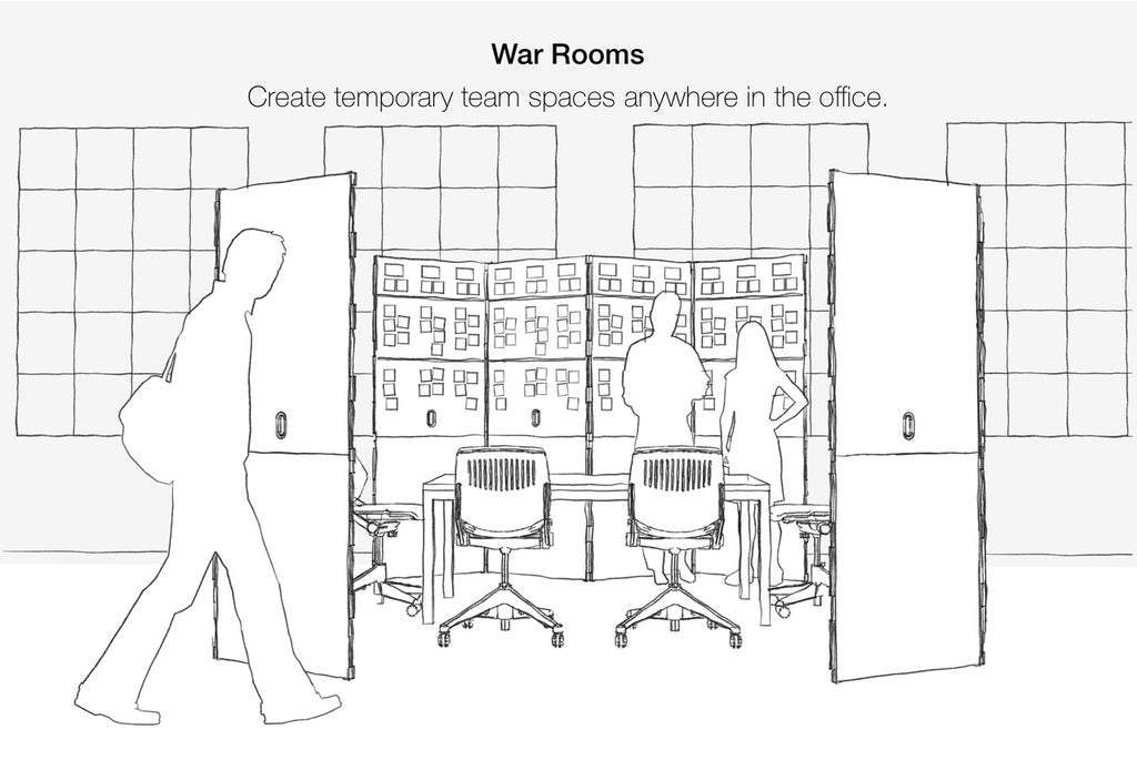 Using Shay boards to form design team spaces and war rooms