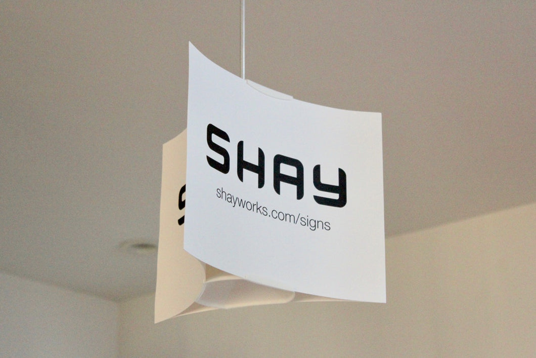 SHAY Hanging Signs (6-pack)