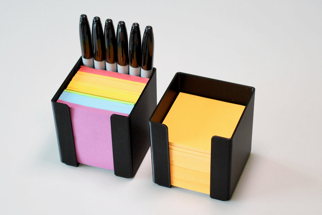 SHAY Sticky Note Cups hold 3x3 PostIt® notes in either vertical or horizontal stacks