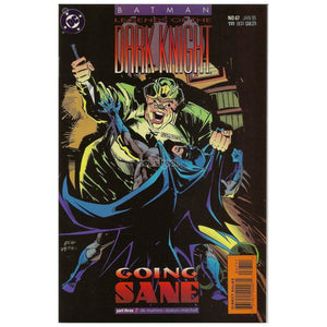 Batman: Legends Of The Dark Knight / Going Sane Part 3 Dc #67 Jan 1995 Vintage Comic Book Books