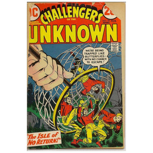 Challengers Of The Unknown / Isle No Return Dc Vol 1 #78 Feb 1973 Vintage Comic Book Books
