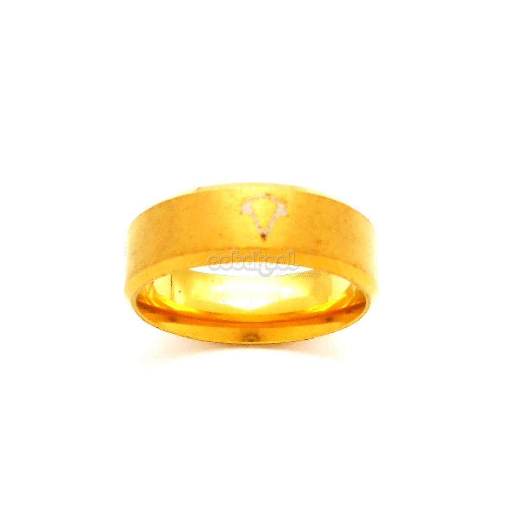 Commitment Ring / Gold Alloy Steel Size 10