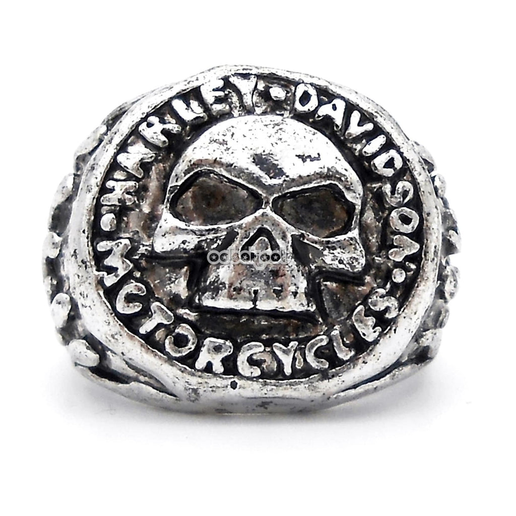 Harley Davidson Motorcycles / Skull Ring Stainless Steel