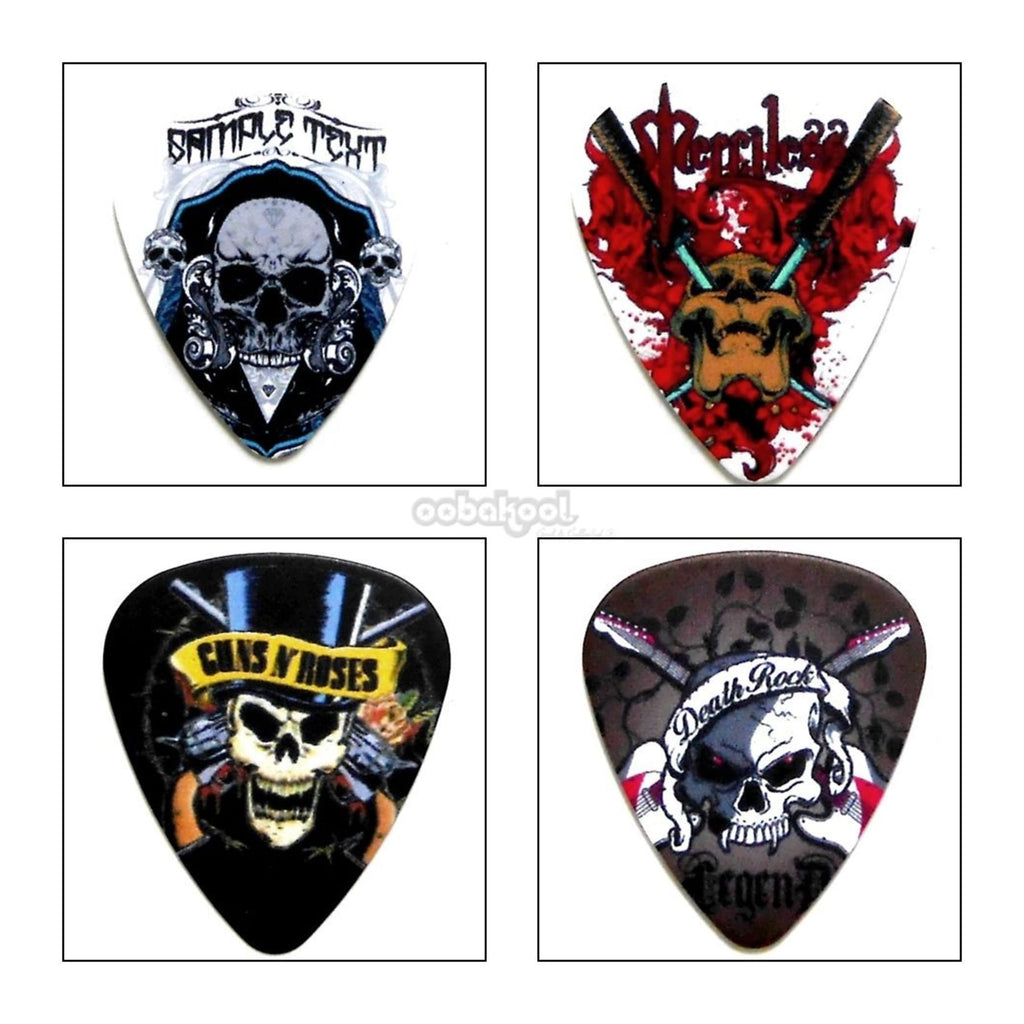 Rock N Roll / Heavy Metal Guitar Plectrum Set Of 4 Limited Edition Music