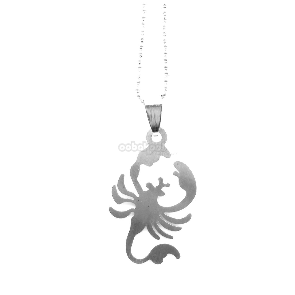 Scorpio The Scorpion / Brushed Stainless Steel Necklace