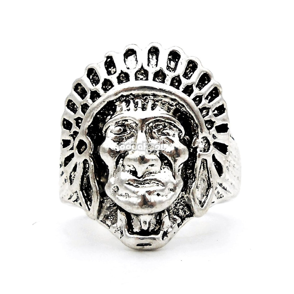 Sitting Bull / Tribal Chief Ring Stainless Steel
