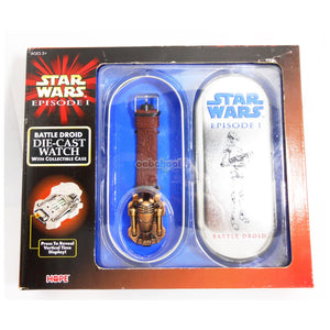 Star Wars / Battle Droid Die-Cast Watch With Case 1999 Episode 1 Limited Edition Nib