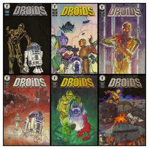 Star Wars Droids / Rare Complete Set Of 6 Dark Horse 1994 Vintage Comic Books