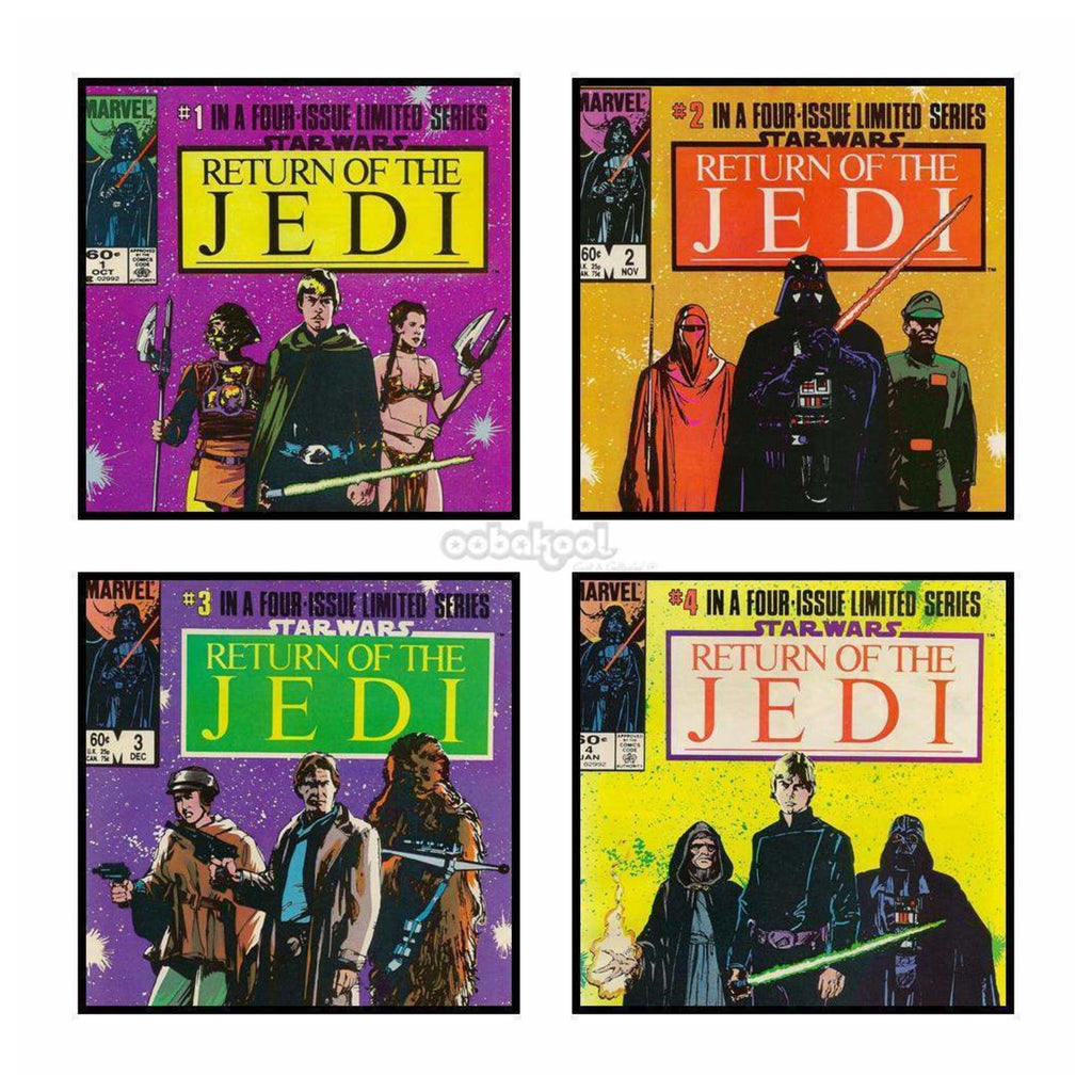 Star Wars: Return Of The Jedi / Complete Set 4 Marvel 1983 Vintage Comic Books