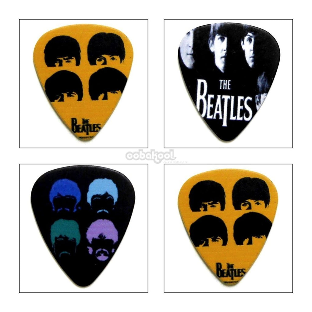 The Beatles / Album Cover Guitar Plectrum Set Of 4 Limited Edition Music