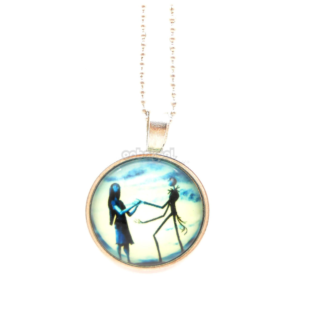 The Corpse Bride / Tibetan Silver And Glass Necklace