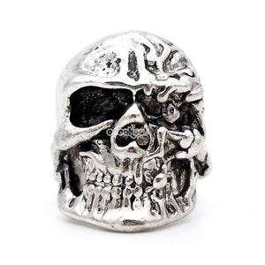 Two Face / Skull Ring Stainless Steel