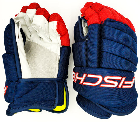 Navy/Red Hockey Gloves