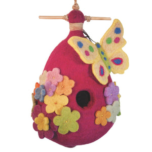 Felt Birdhouse - Butterfly Handmade and Fair Trade