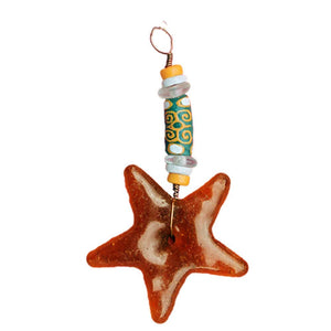 Strength Star Ornament Amber - Global Mamas (H)