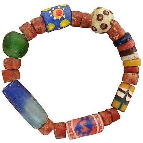 Recycled Glass Bead Eco Bracelet Handmade and Fair Trade