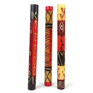 Set of Three Boxed Tall Hand-Painted Candles - Bongazi Design Handmade and Fair Trade