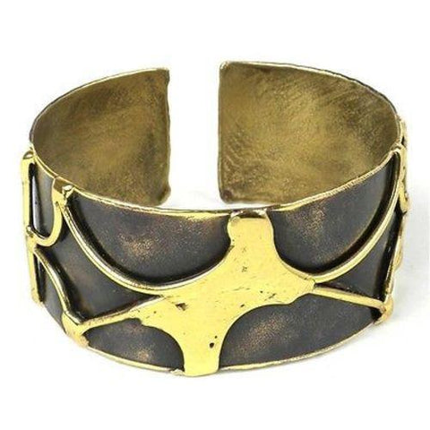 Handcrafted Brass Energy Cuff Handmade and Fair Trade