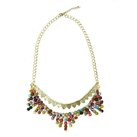 Kantha Tribal Necklace - assorted - WorldFinds