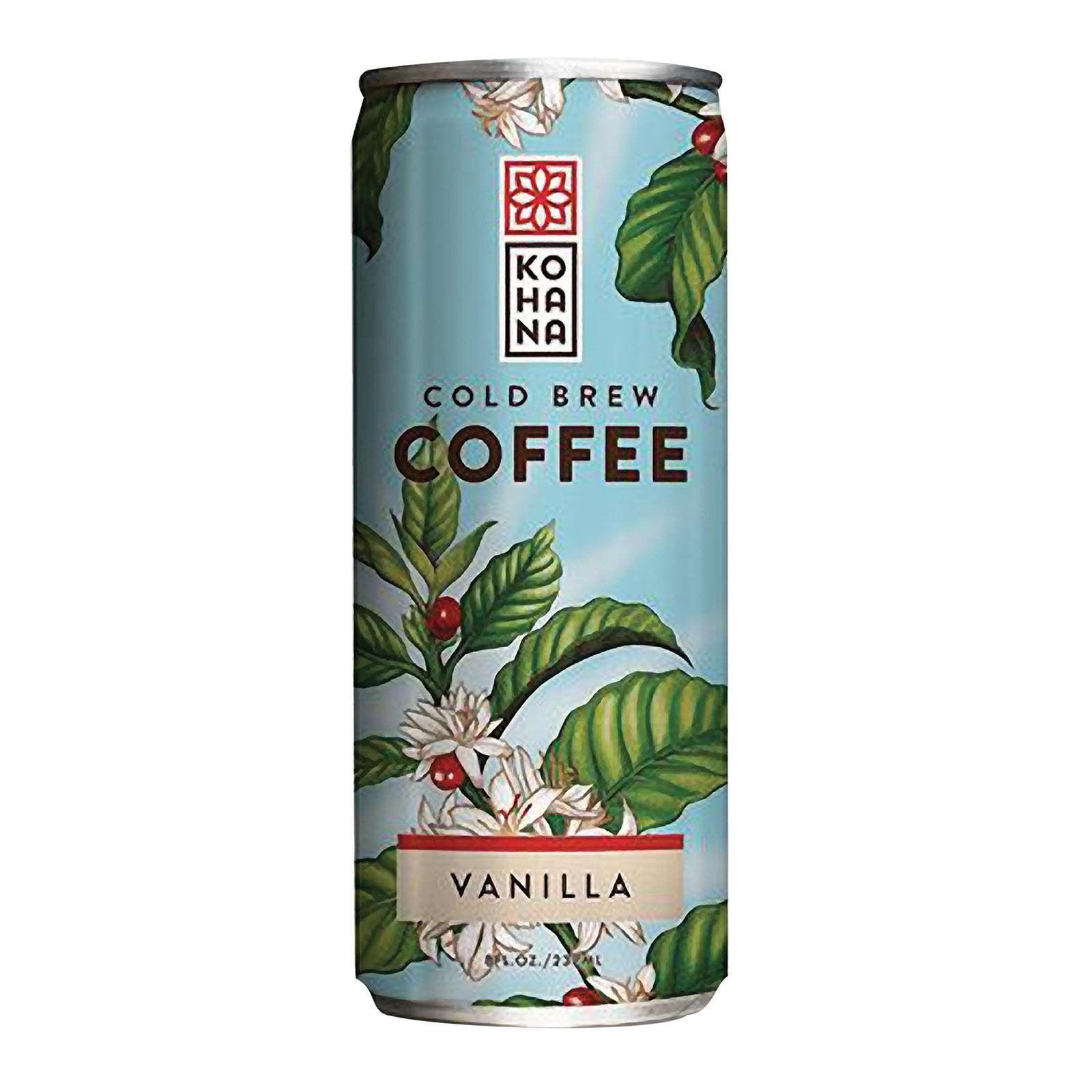 Kohana Cold Brew Coffee Beverage - Taihitian Vanilla - Case Of 12 - 8 Fl Oz.