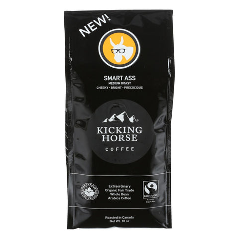 Kicking Horse Coffee - Whole Bean - Smart Ass - Case Of 6 - 10 Oz.