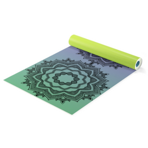 Calming Mandala blue Yoga Mat plus Carrying Bag