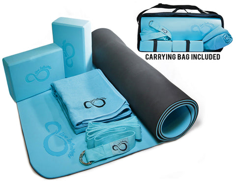COMPLETE 6 PIECE YOGA SET & CARRYING CASE