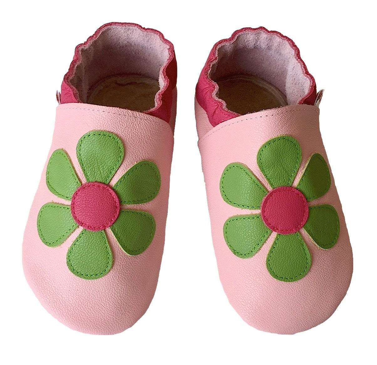 Baby pink lime daisy shoes