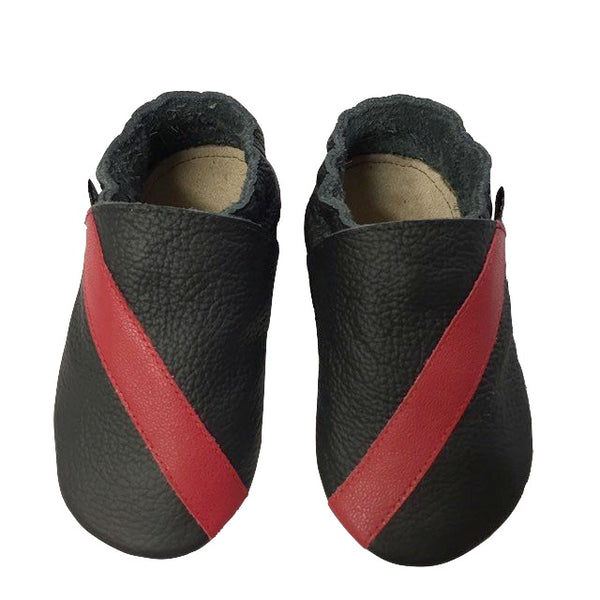 Black Red Stripe Baby Sports Shoes