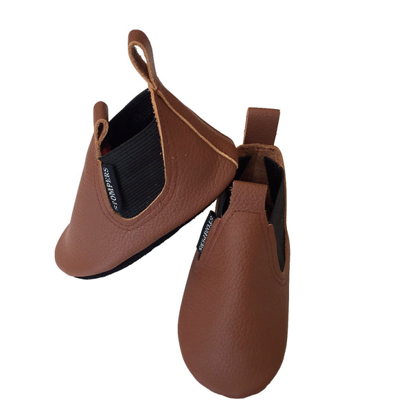 Brown soft sole boots side