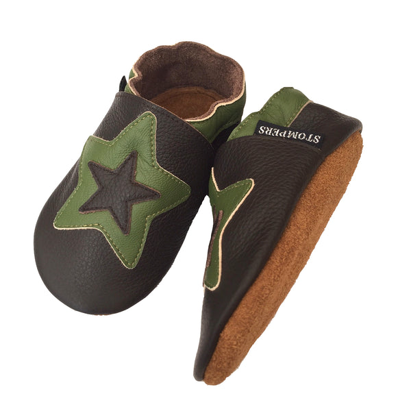 Chocolate sage star shoes sole