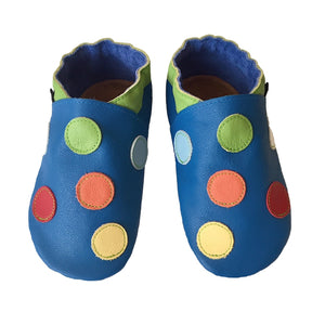 Cobalt lime spotty boys shoes