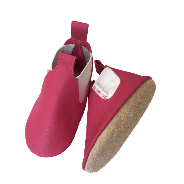 Fuchsia baby girl boots sole