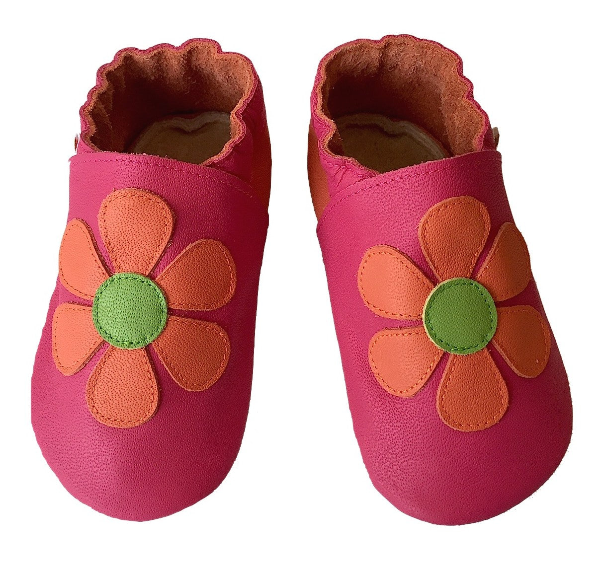 Fuchsia orange daisy shoes