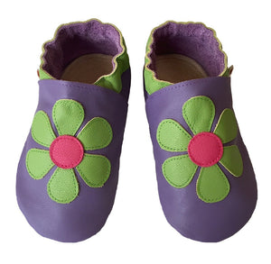 Mauve Lime Daisy Shoes
