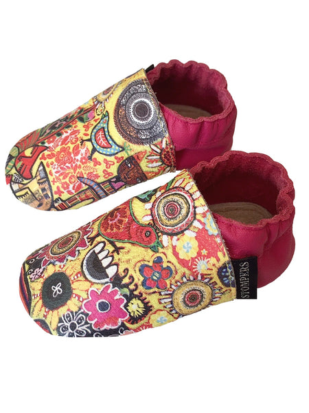 Rebecca Cool print baby shoes side