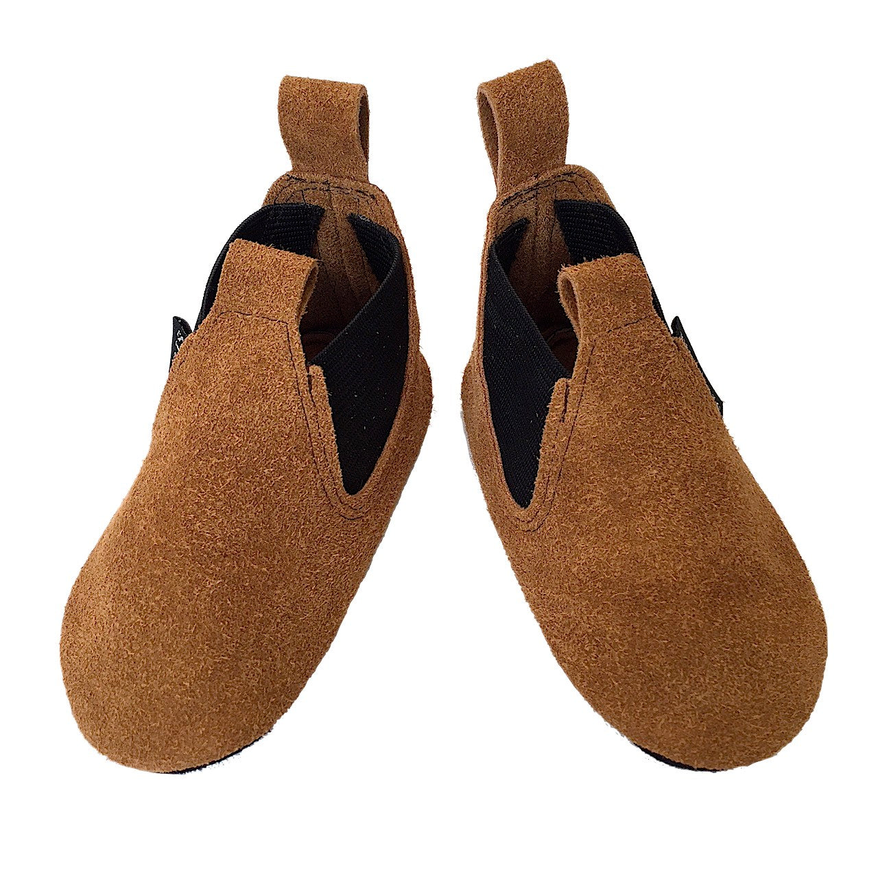 Tan suede toddler boots