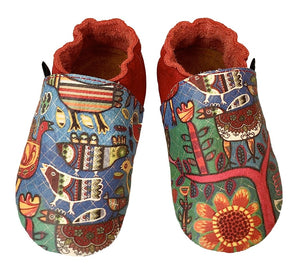Rebecca Cool print on leather baby shoes
