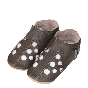 Chocolate leather baby sandals