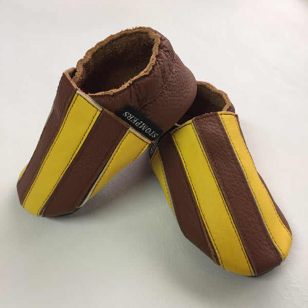 Brown Yellow Stripe Baby Sports Shoes