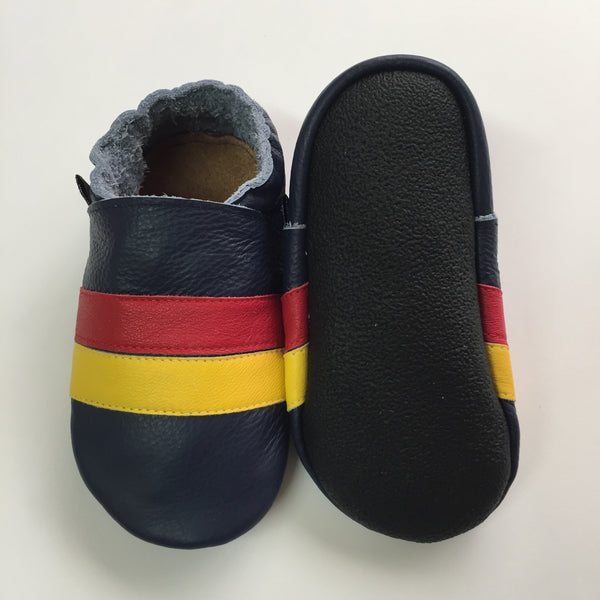 Navy Red Yellow Stripe Baby Sports Shoes