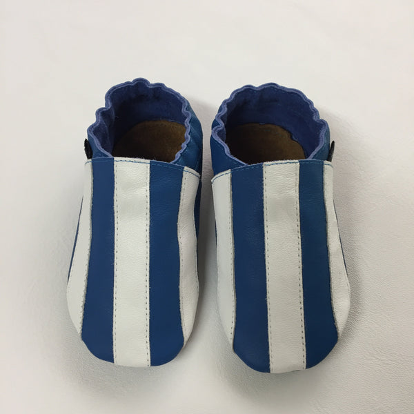 Cobalt White Stripe Baby Sports Shoes