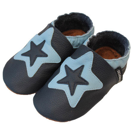 Navy Baby Blue Star Shoes