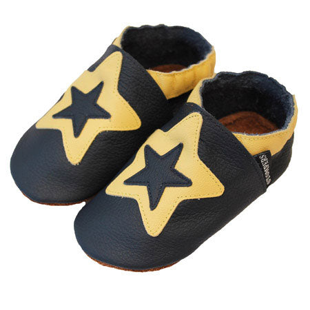 Navy Yellow Star Shoes